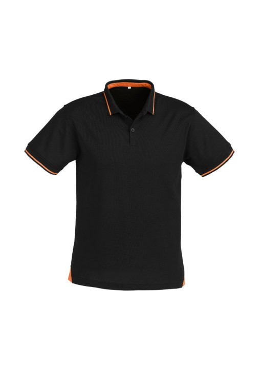 Mens Jet Polo P226MS Black Orange