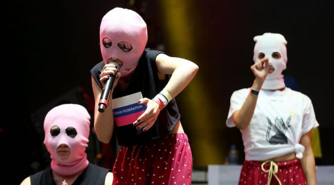 Protest band Pussy Riot claim to have disrupted the FIFA final match