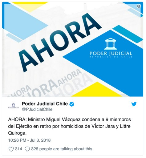 Twitter Poder Judicial Chile