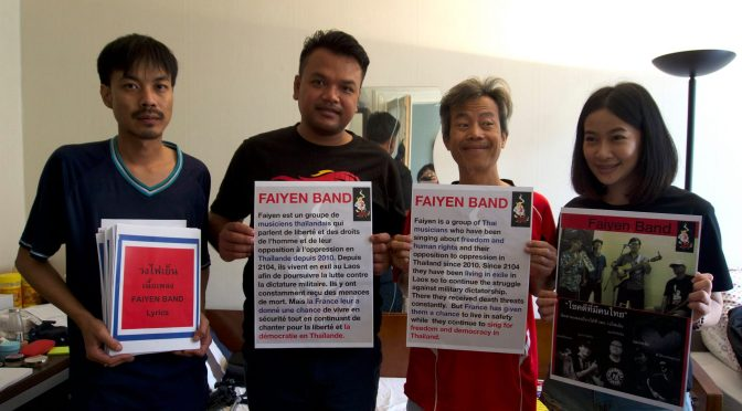 Thai Protest Band Apply For Asylum In France