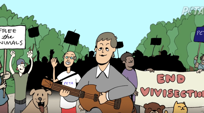 Paul McCartney Teams Up With PETA For An Animated Video Of 'Looking For Changes' (video)