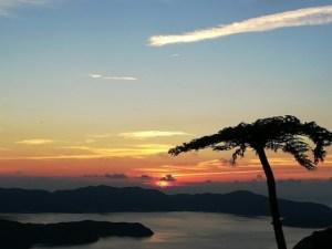 奄美大島南部・油井岳からの夕日