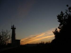 奄美大島南部・瀬戸崎灯台と夕焼け