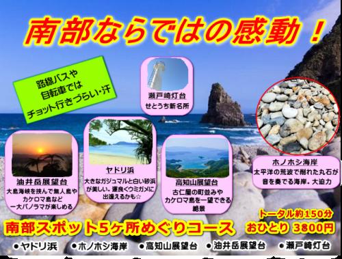 昭和荘の奄美南部観光ツアーポスター