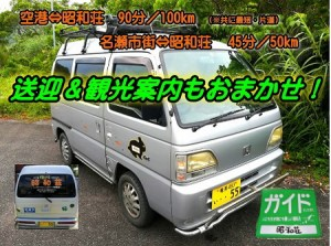 奄美・昭和荘の観光案内ポスター