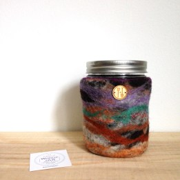 insulated drink jar from locally sourced wool