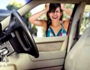 как открыть машину, если ключи остались в машине иномарка