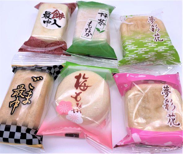 5種の最中ミックス 伊藤製菓 懐かしいお菓子 japanese-nostalgia-snacks-itoseika-wafers-filled-with-sweet-bean-paste-and-rice-cake-five-types