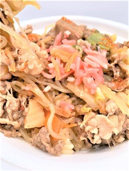 すき家 牛すき焼き丼 大盛 期間限定 2020 テイクアウト お持ち帰り japanese-fast-food-sukiya-gyusuki-don-sukiyaki-rice-bowl-2020-limited-edition-takeout
