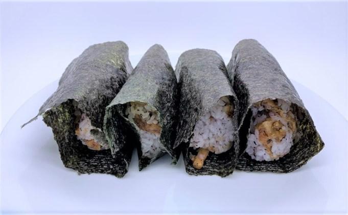 丸亀製麺 天ぷら 4種類  お持ち帰り アレンジ 料理 2020 japanese-fast-food-marugame-seimen-tempura-arrange-the-menu-for-onigiri-2020-to-go