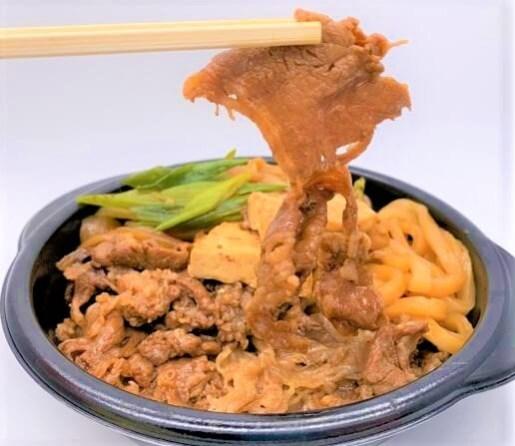 ほっともっと 特すき焼き弁当 うどん付き ライス普通盛 テイクアウト 2020 japanese-fast-food-hottomotto-toku-sukiyaki-bento-beef-stew-2020-to-go