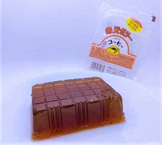 みかわ大国堂 寒天ゼリー コーヒー 透明パック 懐かしいお菓子 2021 japanese-snacks-mikawa-daikokudo-kanten-coffee-agar-agar-jelly-2021