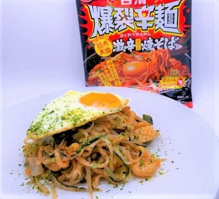 日清食品 日清爆裂辛麺 韓国風 極太大盛 激辛焼そば インスタント 袋 2021 japanese-instant-stir-fried-noodles-nissin-bakuretsu-karamen-super-spicy-yakisoba-2021