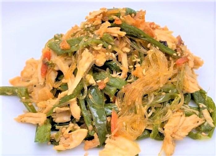 永谷園 チャプチェ 韓国風春雨炒め 袋 そうざいの素 2021 japanese-glass-noodles-with-seasoning-nagatanien-japchae-homemade-dinner-14-2021