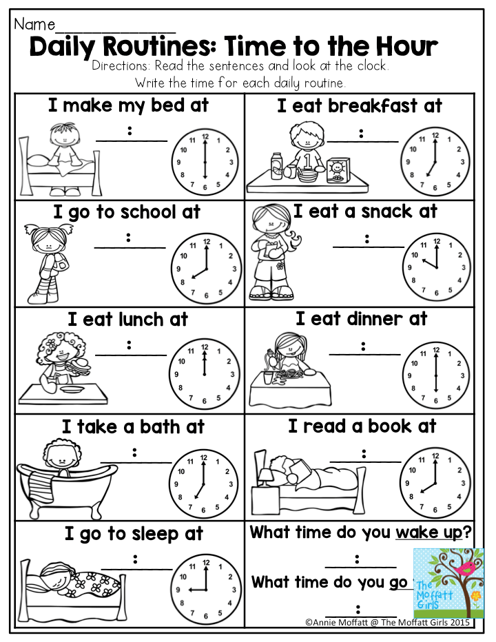 WORKSHEETS: Telling Time