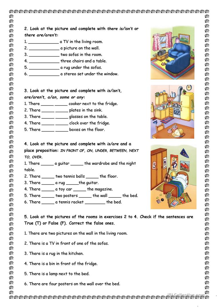 WORKSHEETS There Is There Are Show And Text