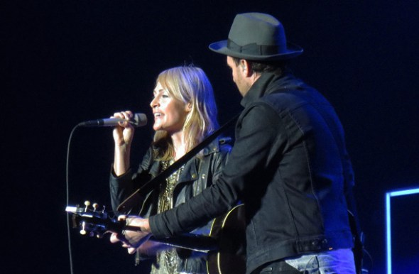 Metric's gear was stuck in Miami, so they played a stripped-down acoustic set.