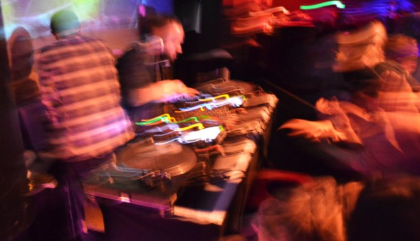 JDH & Dave P did a great job sandwiching Simian Mobile Disco, getting the party started and closing it down.