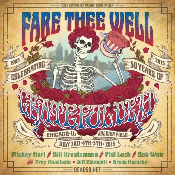 """Grateful Dead 50 - """"Fare Thee Well"""" - Soldier Field"""