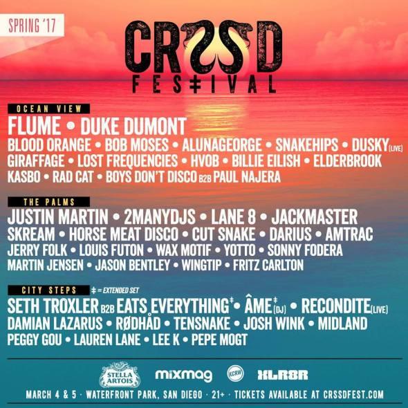 CRSSD Festival - Spring 2017 lineup