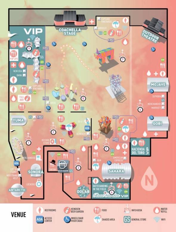 Coachella 2017 - map