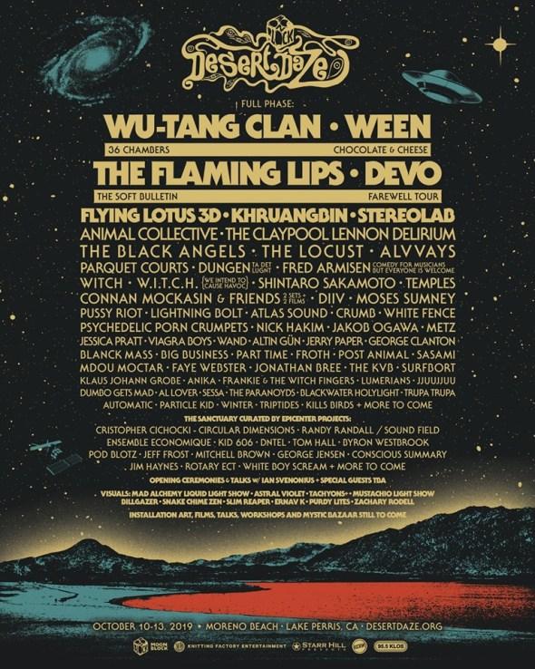 Desert Daze - 2019 lineup