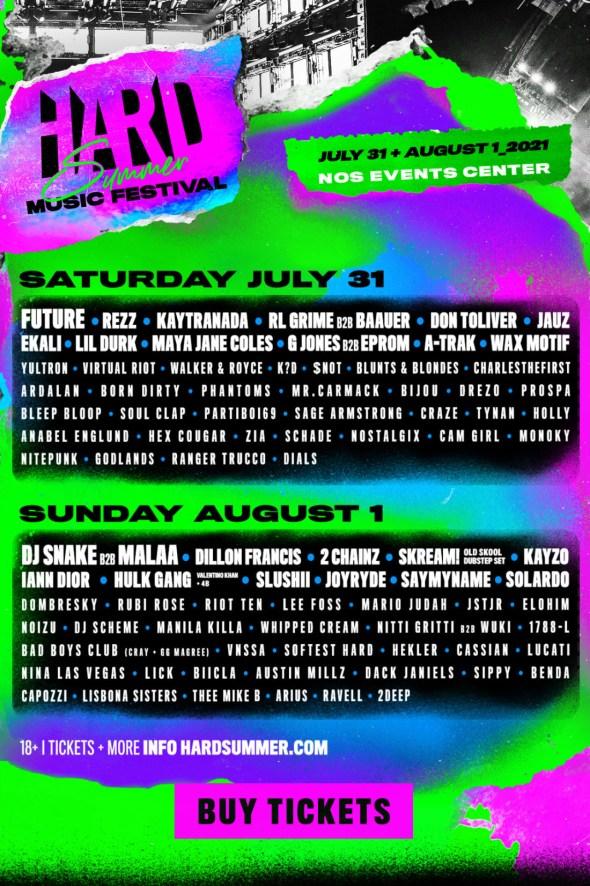 HARD Summer Music Festival - 2021 lineup