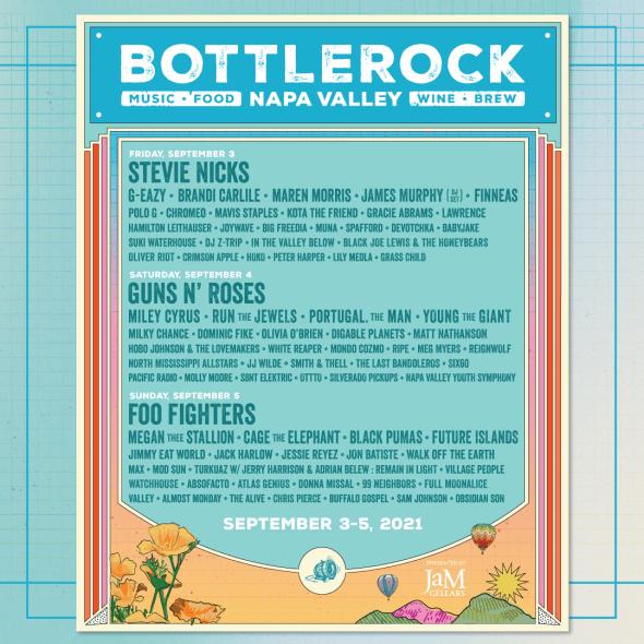 BottleRock - 2021 daily lineups