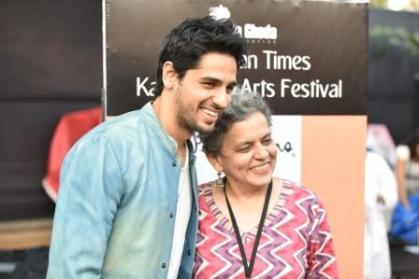 Siddharth Malhotra and Festival Director Brinda Miller