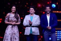 Caught in a candid moment, Judges of Nach Baliye Season 8