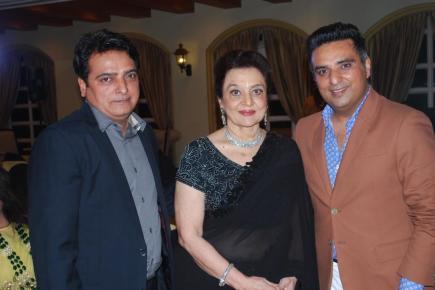 Om Books Sanjay Mago and Ajay Mago with Asha parekh