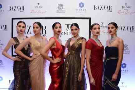 Models showcasing the Red Carpet Collection by Tanishq