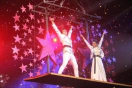 Mohsin Khan & Shivangi Joshi performing on stage