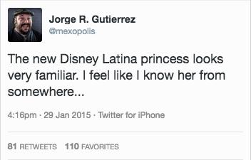 Jorge R. Gutierrez tweet