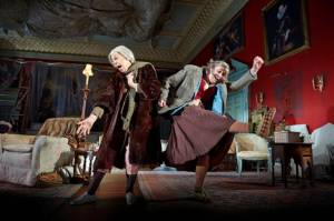 People by Alan Bennett, directed by Nicholas Hytner. With Frances de la Tour as Dorothy Stacpoole, Linda Bassett as Iris. Photo by Geraint Lewis