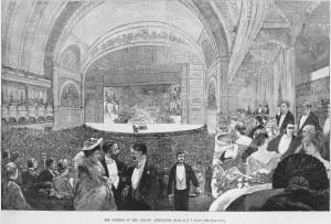 illustration, The Interior of the Chicago Auditorium from Harper's Weekly