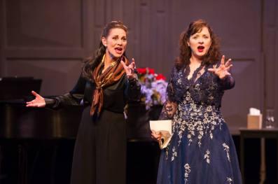 Master Class, featuring Angela Iannone (L) and Alicia Berneche. Mark Frohna / Milwaukee Chaber Theatre