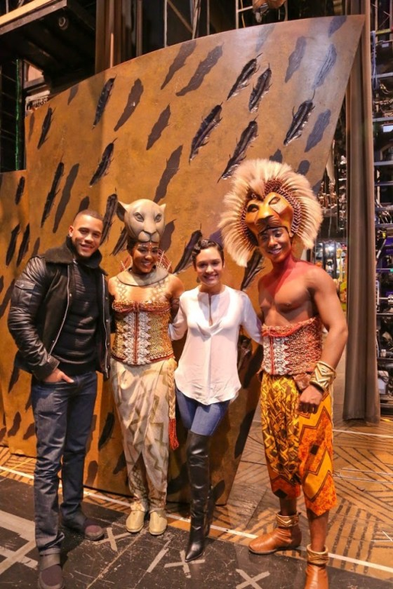 Trai Byers (Empire)_ Nia Holloway (The Lion King)_ Grace Gealey (Empire) and Aaron Nelson (The Lion King)