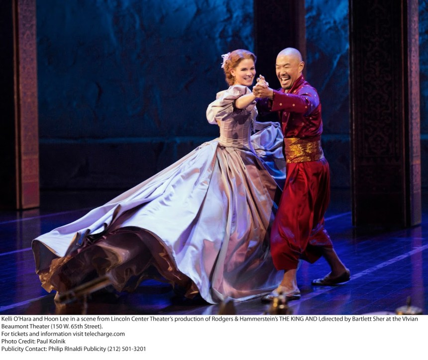 Kelli O'Hara and Hoon LeeThe King and IBartlett Sher: DirectorLincoln Center Theater ProductionCredit Photo: Paul Kolnikstudio@paulkolnik.comnyc 212-362-7778