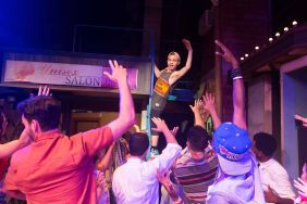 """Frankie Leo Bennett as """"Sonny"""" performs """"96,000"""" with the cast of In The Heights"""