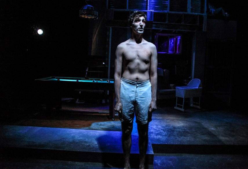 (pictured) Matthew Nerber in Interrobang Theatre Project's Midwest premiere of STILL by Jen Silverman, directed by Georgette Verdin. Photo by Emily Schwartz.