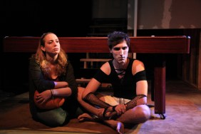 left to right) Laura Berner Taylor and Matthew Nerber in Interrobang Theatre Project's Midwest premiere of STILL by Jen Silverman, directed by Georgette Verdin. Photo by Emily Schwartz.
