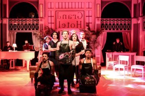 (front, l to r) Nick Arceo, Jeff Pierpoint and Maurice Randle (second row, l to r) Jenny McPherson, Hanah Rose Nardone, Daniel Hurst, Jennifer Ledesma and Darren Patin (back, l to r) Aaron Benham, Elena Spiegel and Parker Guidry in Kokandy Productions' GRAND HOTEL. Photo by Evan Hanover.