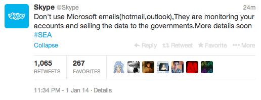 @Skype still hacked