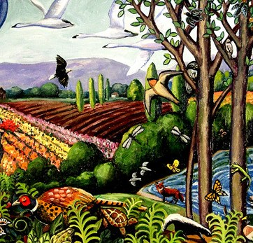 The Skagit, original oil painting done for the mosaic mural.