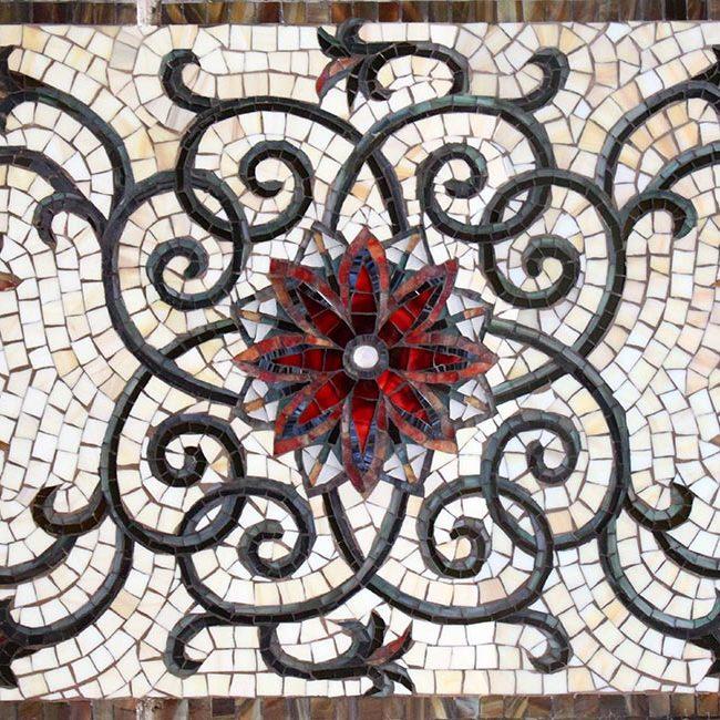 custom floral tile backsplashes