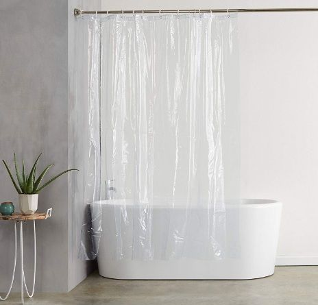 AmazonBasics Heavyweight Clear Shower Curtain Liner