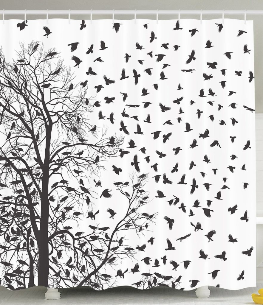 Black Tree Shower Curtain Best Selection In Town