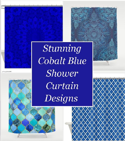 Best Cobalt Blue Shower Curtain Designs