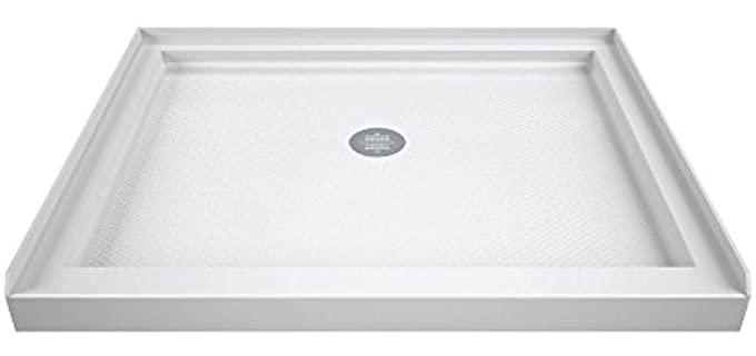 dreamline white slimline shower base